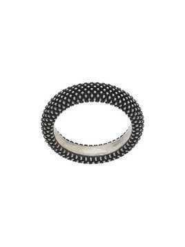 Nove25 slim beaded ring - Silver