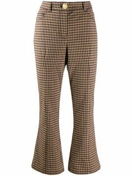 Derek Lam 10 Crosby high-waisted kick flare trousers - Brown