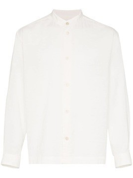 Issey Miyake double layer cotton shirt - White