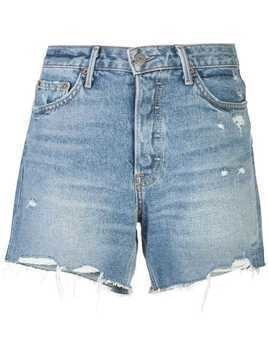 Grlfrnd distressed denim shorts - Blue