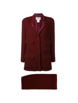 Chanel Vintage 1998 boxy tweed suit - Red