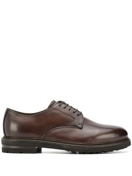 Henderson Baracco lace-up shoes with faux fur lining - Brown