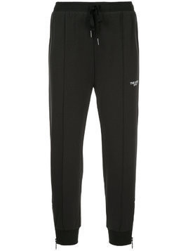 The Upside drawstring cropped track pants - Black