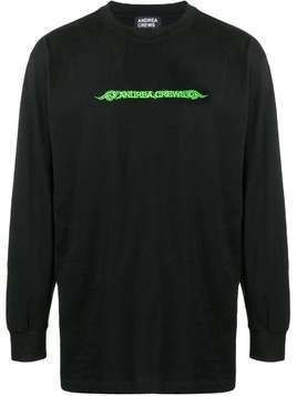 Andrea Crews logo print sweatshirt - Black
