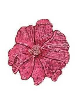 Racil flower brooch - Red