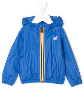 K Way Kids hooded zipped jacket - Blue