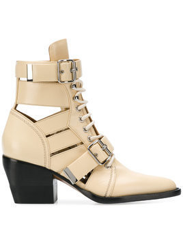 Chloé Rylee 60 buckle ankle boots - Nude & Neutrals