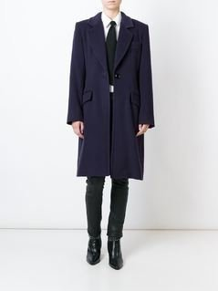 Yves Saint Laurent Vintage classic coat - Blue