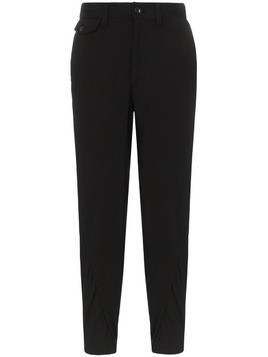 Issey Miyake Twist seam cotton cropped trousers - Black