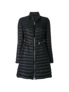Moncler fitted long length jacket - Black