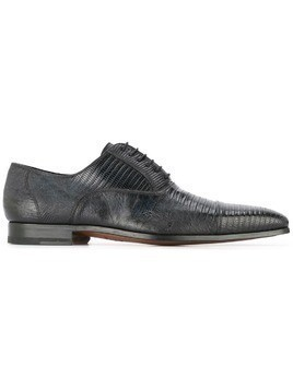Magnanni textured lace-up shoes - Black
