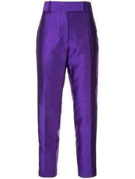Haider Ackermann Purple WHITE SIDE STRIPE SLIM LEG TROUSERS