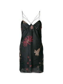 Giorgio Armani Vintage floral print dress - Black