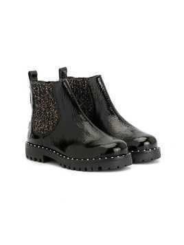 Sophia Webster Mini Rainbow Studded boots - Black