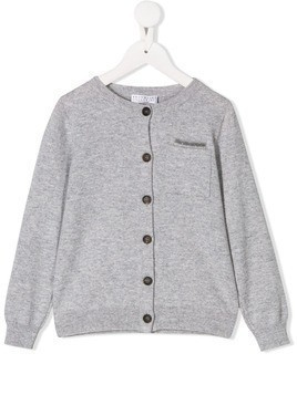 BRUNELLO CUCINELLI KIDS long sleeve knit cardigan - Grey