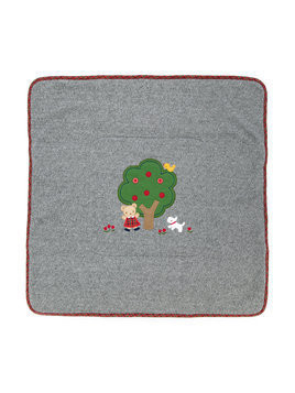 Familiar tree patch blanket - Grey
