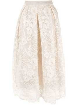 Biyan lace midi skirt - Brown
