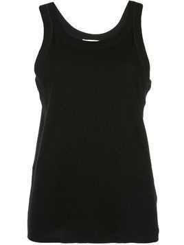 The Row boxy fit round neck vest top - Black