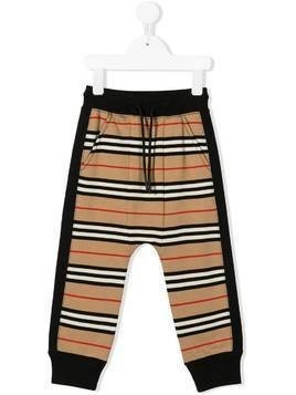 Burberry Kids signature print track trousers - NEUTRALS
