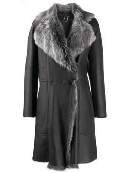 Desa 1972 fur collar coat - Grey