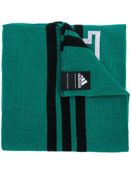 Gosha Rubchinskiy logo colour-block scarf - Green