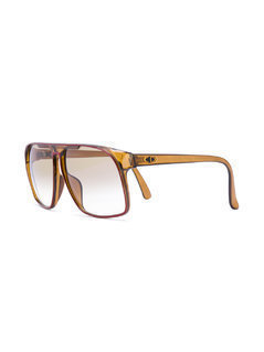 Christian Dior Vintage square 70's style sunglasses - Brown
