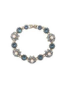 Marchesa Notte embellished flower bracelet - Blue