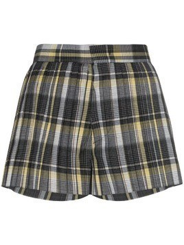Blindness tartan pleated shorts - Black