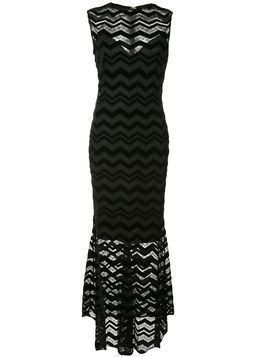 Christian Siriano zigzag panel dress - Black