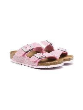 Birkenstock Kids Arizona leather sandals - PINK
