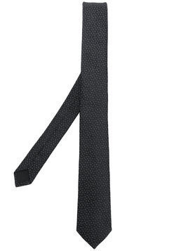 Saint Laurent YSL logo jacquard tie - Black