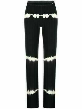Chanel Pre-Owned tie-dye straight-leg trousers - Black
