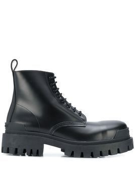Balenciaga Strike lace-up boots - Black