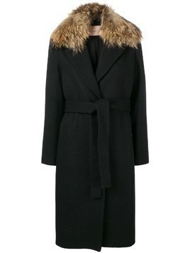 Twin-Set midi belted coat - Black