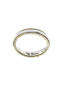 Ugo Cacciatori bordered ring - Metallic