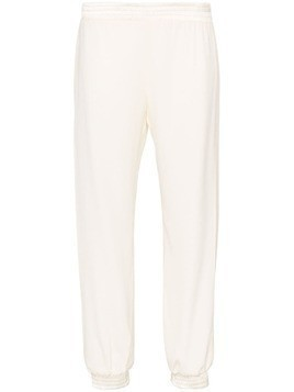 Haney side slit cropped joggers - White
