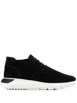 Hogan smooth lace-up sneakers - Black