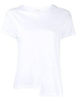 Loewe asymmetric hemline embroidered logo T-shirt - White