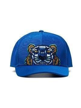Kenzo Tiger embroidered logo cap - Blue