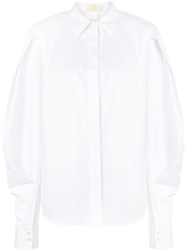 Sara Battaglia loose-fit shirt - White