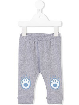 Kenzo Kids knee-patches leggings - Grey