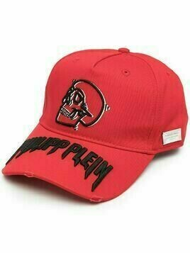 Philipp Plein Skull baseball cap - Red