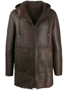 Desa 1972 drawstring hooded coat - Brown