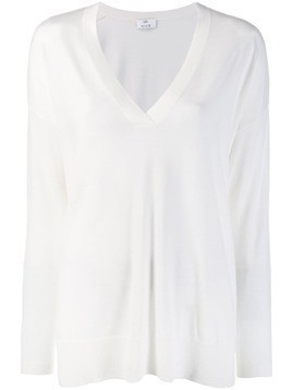 Allude fine knit jumper - White