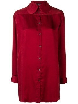 Miaoran long-sleeve fitted shirt - Red