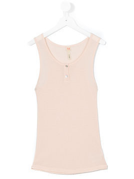 Bellerose Kids buttoned tank top - Pink & Purple