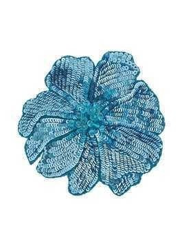 Racil flower brooch - Blue