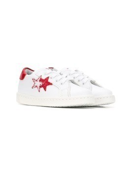 2 Star Kids star-appliquéd sneakers - White