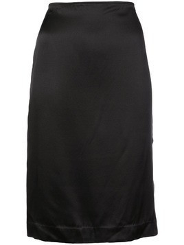 6397 slide slit skirt - Black