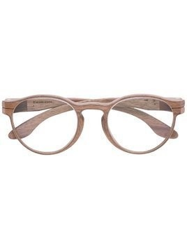 Herrlicht round framed glasses - Brown